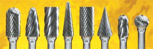 SAIT 45051 Tungsten Carbide Die Grinder Bur SA5 Non-FerrousAluminum Cut 12 x 1 x 14