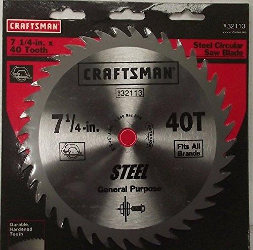 Craftsman 32113 7-14 x 40 Tooth Steel Circular Saw Blade