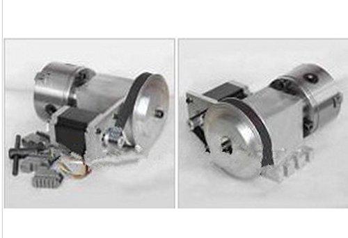 GOWE CNC Standard Kit K11 100mm 3 Jaw Self Centering Lathe Chuck 81 and Stepper Motor