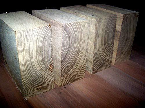 4 Piece of Black Locust Bowl Blanks Lathe Turning Block Lumber 6 X 6 X 3