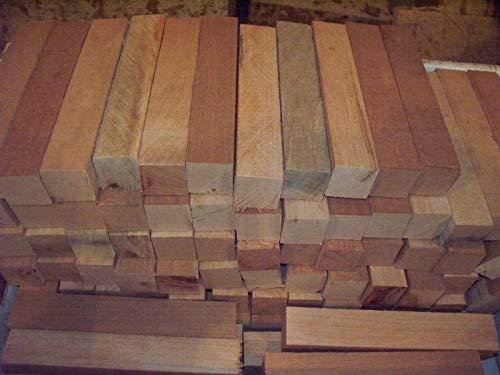 Black Cherry Lathe Turning Exotic Wood Bowl Blanks Blocks 1 X 1 X 6 Set of 70