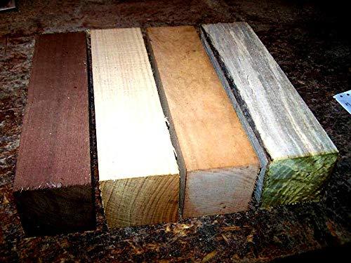Walnut Maple Elm River Birch Lathe Turning Exotic Wood Bowl Blanks Blocks 3 X 3 X 12 Set of 4