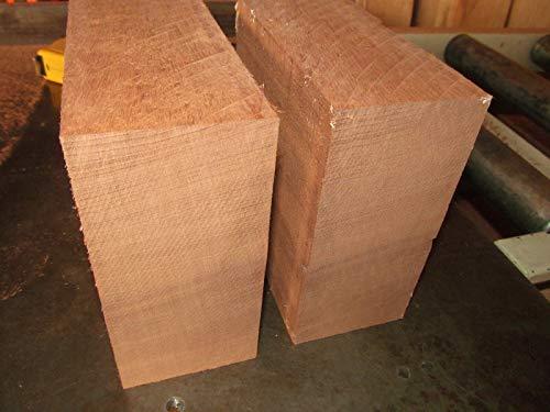 Wood 2 Exotic KILN Dried SAPELE Bowl Blanks Lumber Wood Turning ~6 X 6 X 3