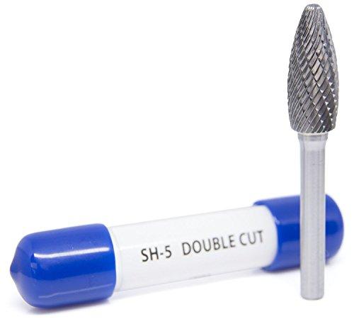 SH-5 Flame Shape - Premium Double Cut Tungsten Carbide Burr
