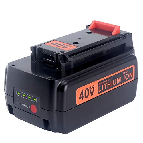 Biswaye 30Ah Replacement Black and Decker 40V Lithium Battery LBXR36 for Black Decker 40-Volt Cordless Power Tools LST136 LHT2436 LSW36 Lithium Battery LBXR36 LBXR2036 LBX1540 LBX2040 LBX2540