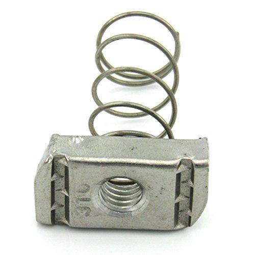 38-16X38 Thick Regular Spring Nut SS 100 per box
