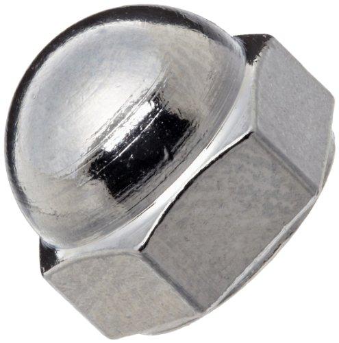 Brass Acorn Nut Chrome Plated Finish Grade 2 Right Hand Threads Class 2B 8-32 Threads 12 Width Across Flats Pack of 10