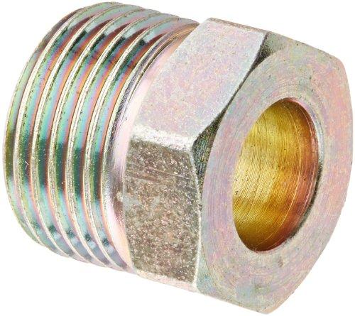 Eaton Weatherhead 105X6X7 Steel Inverted Flare Brass Fitting Nut 38 Tube OD to 1116-18 Male Thread