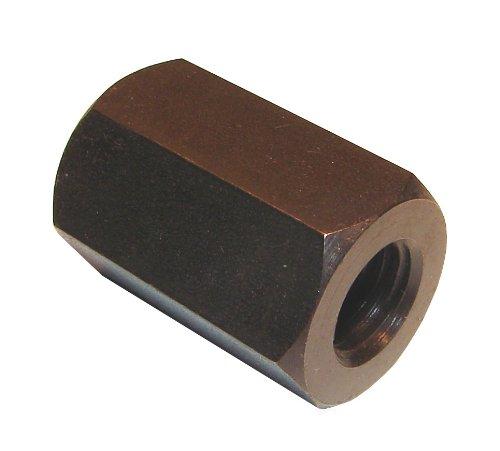 Morton EN-6 Black Oxide Carbon Steel Standard CouplingExtension Hex Nut 14-20 Thread Pack of 5