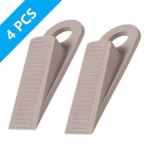 Door Stoppers - Ozland Premium Rubber Hook Type Door Stopper Wedge Non Scratching Slip Resistant Design - Gaps up to 1 Inches Door Stops Used for Home Office School 4 Pack