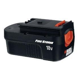 Black Decker FireStorm 18 Volt Battery 2-Pack FSB18-2