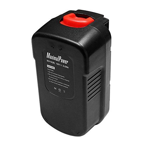 MaximalPower Power Tool Replacement Battery for BLACK DECKER 18V 244760-00 A1718 A18 HPB18 HPB18-OPE and Firestorm A18 FS180BX FS18BX FS18FL FSB18