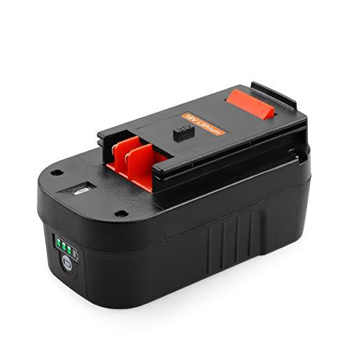 Yabelle Replacement 5000mAh Black and Decker 18V battery for Black and Decker Replacement Battery HPB18 HPB18-OPE Firestorm 18v Battery 244760-00 A1718 FS18FL FSB18