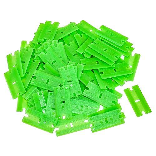 100 pc Plastic Razor Blade wChisel Edge
