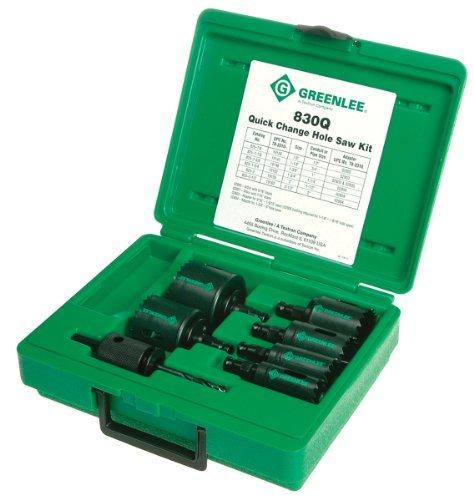 Greenlee 830Q Quick Change Bi-Metal Hole Saw Kit 12 Through 2 Conduit Size by Greenlee