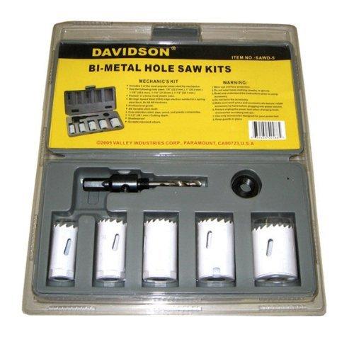 5 Pc Bi-Metal Hole Saw Kit MechanicsHole Saw Electricians Hole Saw Drill Bit