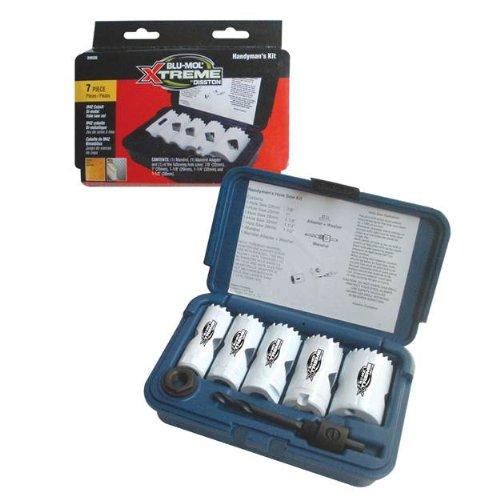 Disston E0212169 Boxed Blu-Mol Xtreme Bi-Metal Hole Saw Kits 7-Piece Handymans Kit