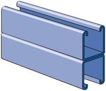 Genuine Unistrut P1001 1-58 12 Gauge Back-to-Back 3-14 Overall Height Strut Channel Solid Back Pre-Galvanized 5 Foot Length