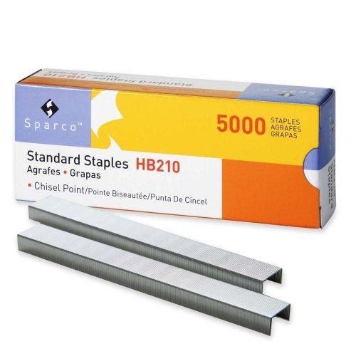 Sparco Standard Staple - 210 Per Strip - 025 Leg - 050 Crown - Chisel Point - 5000Box