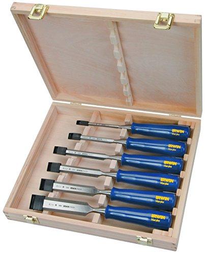 Marples M444SB6 6-Piece Blue Chip Bench Chisel Set