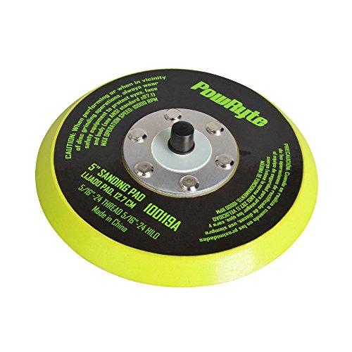 PowRyte Basic 100119 5-Inch Hook Loop Velcro Backing Pad Polishing Pad Sanding Pad