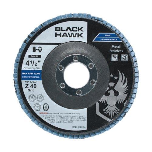 10 Pack 4-12 x 78 Black Hawk Zirconia Grinding Sanding Flap Discs T29 40 Grit