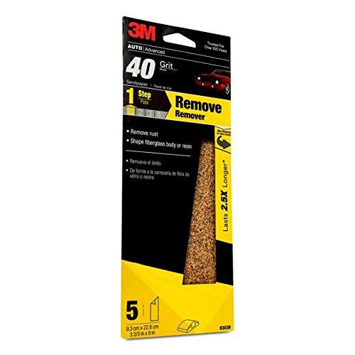 3M Sandpaper 03038 40 Grit 3 23 in x 9 in
