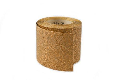 Karebac RHW40 PSA Sticky Back 40 Grit Gold Heavyweight Aluminum Oxide Rolls 4-12 x 10 yd