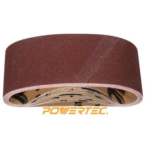 POWERTEC 110060 40 Grit Aluminum Oxide Sanding Belt 10 Pack 4 x 24