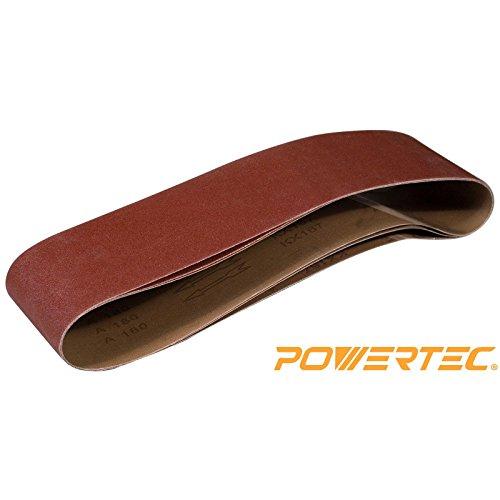 POWERTEC 110163 40 Grit Aluminum Oxide Sanding Belt 3 Pack 6 x 48
