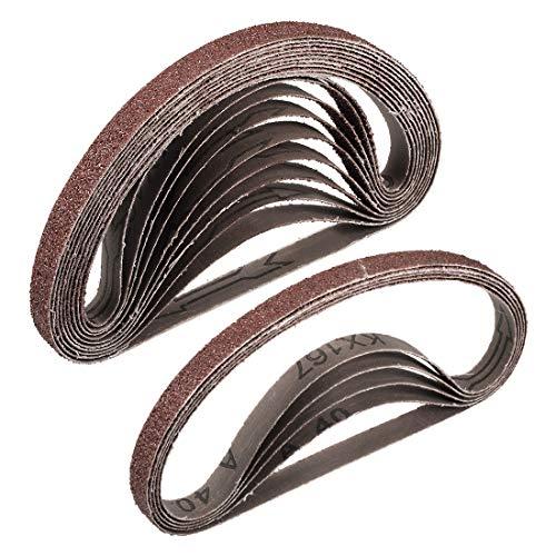 uxcell 12-inch x 18-inch 40-Grits Sanding Belt Aluminum Oxide Sand Belts for Belt Sander 15pcs