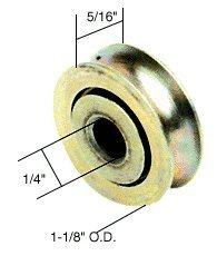 CRL 1-18 Diameter x 516 Wide Stainless Steel Ball-Bearing Replacement Roller in a Bulk 10 Pack - D1692B
