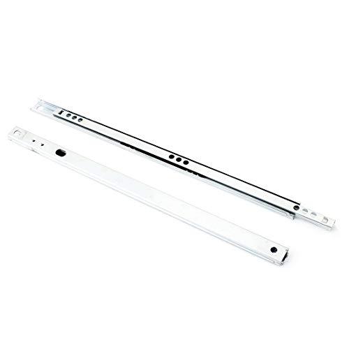 OKSLO Pair 122 length folding 2 sections metal ball bearing drawer slide