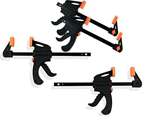 4 Black Duck Brand Quick Grip Ratchet Bar Spreader Clamps in 4 6