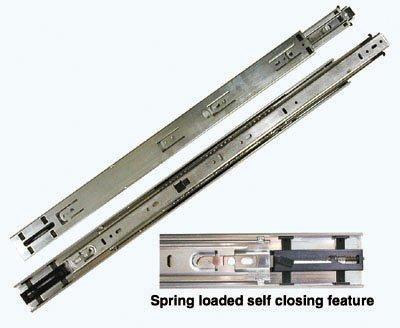 Kv 8400 Series Full Extension Precision Ball Bearing Slides Self Closing 26 100 Class Set