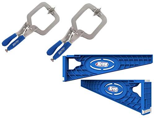 Kreg Tool Company - Kreg KHI-SLIDE Installation Jig Drawer Slide Jig and Kreg KHC-PREMIUM Face Clamp 2 Pack