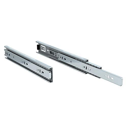 TCH Hardware 12 Inch 100 LB Steel Full Extension Ball Bearing Drawer Slides - Kitchen Cabinet Desk Draw