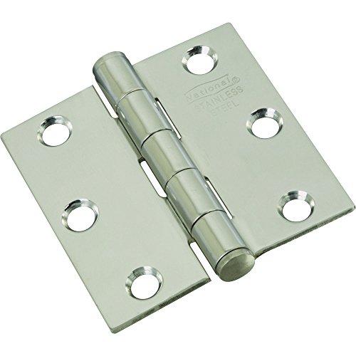 National Hardware N276-972 V514 Door Hinges  in Stainless Steel 2 pack