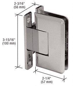 CRL Brushed Nickel Cologne 537 Series Wall Mount Full Back Plate Standard Shower Door Hinge with 5186 Offset