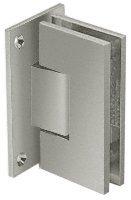 CRL Vienna 037 Series Brushed Nickel Wall Mount Shower Door Hinge with Internal 5 Degree Pin