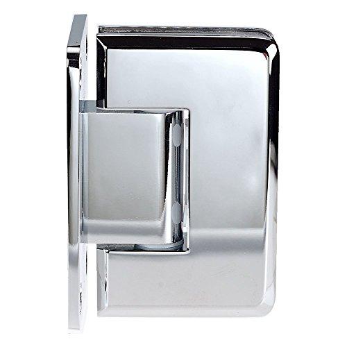 Coastal Shower Doors C-3012B Paragon Wall Frameless Heavy Glass Shower Door Hinge Chrome