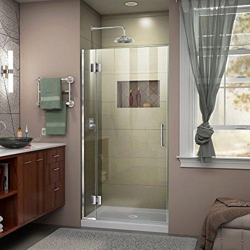 DreamLine Unidoor-X 36 in W x 72 in H Frameless Hinged Shower Door in Chrome D13072-01