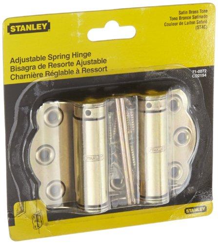 Stanley Hardware CD2154 Screen Door Hinge in Satin Brass Tone