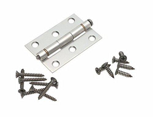 Stanley Hardware S210-313 5 Pack 3in x 1-1516in CD1752 Screen Door Hinge Clear Coated Aluminum