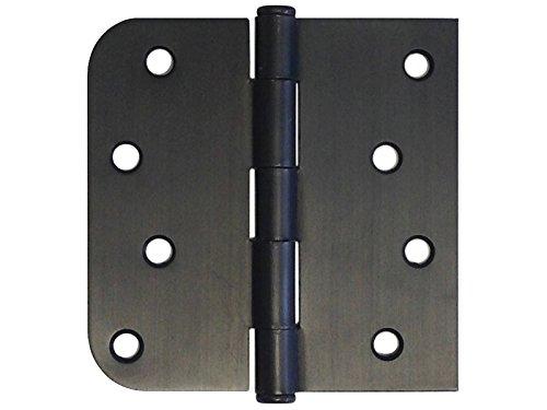 9 PC 4 x 4 Straight Square Corner x 58 Round Radius Exterior Door Hinge Oil Rubbed Bronze