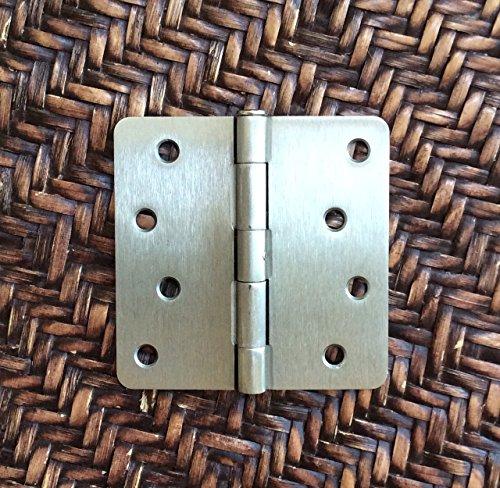 Satin Nickel 4 X 4 X 14 Corner Residential Exterior Door Hinge