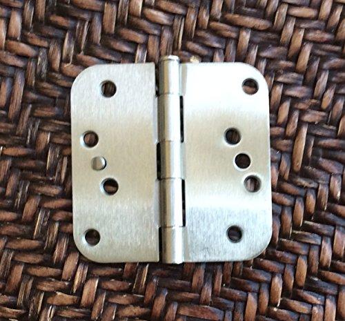 Satin Nickel 4 X 4 X 58 Corner Residential Exterior Door Hinge