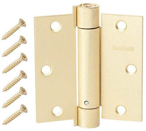3-12 in Satin Brass Adjustable Spring Door Hinge