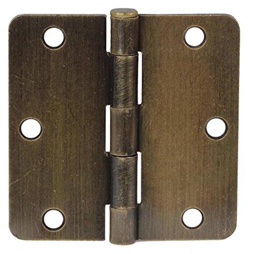 35 Antique Brass Door Hinges 14 Radius Hinge 3514-ab 3-12