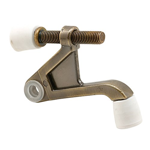 Prime-Line Products U 9027 90-Degree Hinge Pin Type Door Stop Antique Brass Plated